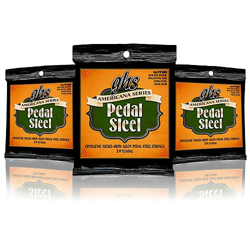 GHS Americana Pedal Steel Strings E9 Tuning (13-36) - 3 Pack