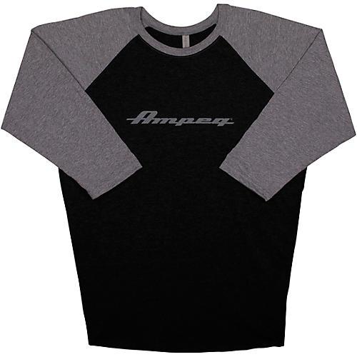 Ampeg Ampeg Raglan Black Sleeve Shirt - Grey Large Black/Gray