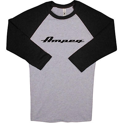 Ampeg Ampeg Raglan Black Sleeve Shirt - White