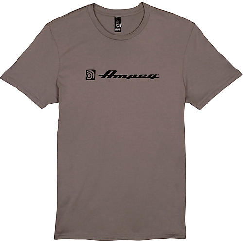 Ampeg Ampeg Script & Clamshell Tee - Grey Large Gray