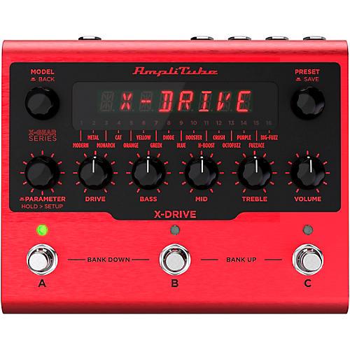 IK Multimedia AmpliTube X-DRIVE Distortion Effects Pedal Red