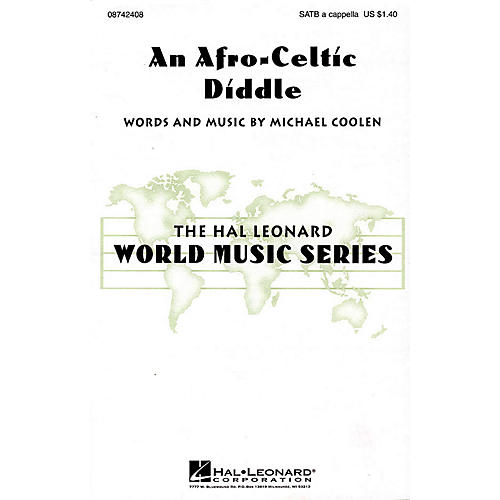 Hal Leonard An Afro-Celtic Diddle SATB a cappella composed by Michael Coolen