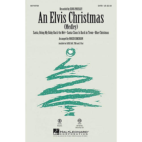 Hal Leonard An Elvis Christmas 2-Part by Elvis Presley Arranged by Roger Emerson