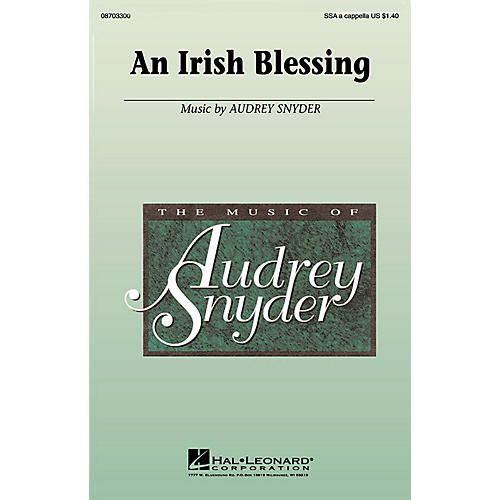 Hal Leonard An Irish Blessing SSA A Cappella composed by Audrey Snyder