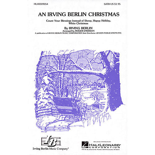 Hal Leonard An Irving Berlin Christmas (Medley) SSA Arranged by Roger Emerson