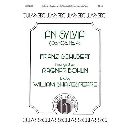 Hinshaw Music An Sylvia (Op. 106, No. 4) SATB arranged by Ragnar Bohlin