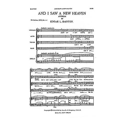 Novello And I Saw a New Heaven SATB Composed by Edgar Bainton