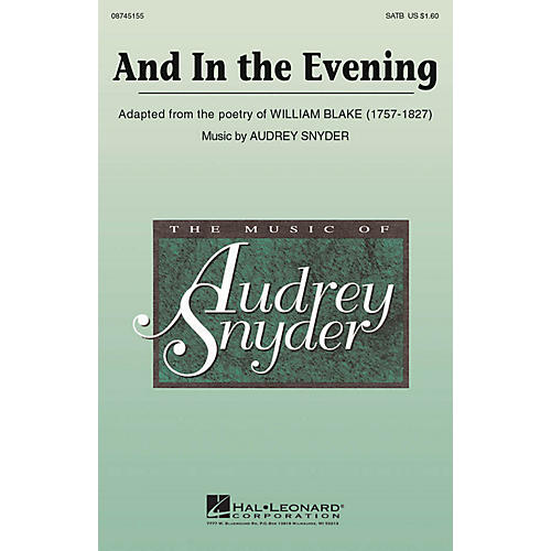 Hal Leonard And In The Evening SATB composed by Audrey Snyder