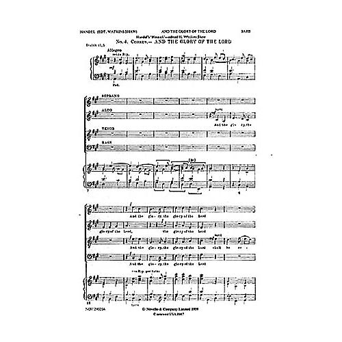 Novello And the Glory of the Lord (from Messiah) SATB Composed by George Frideric Handel