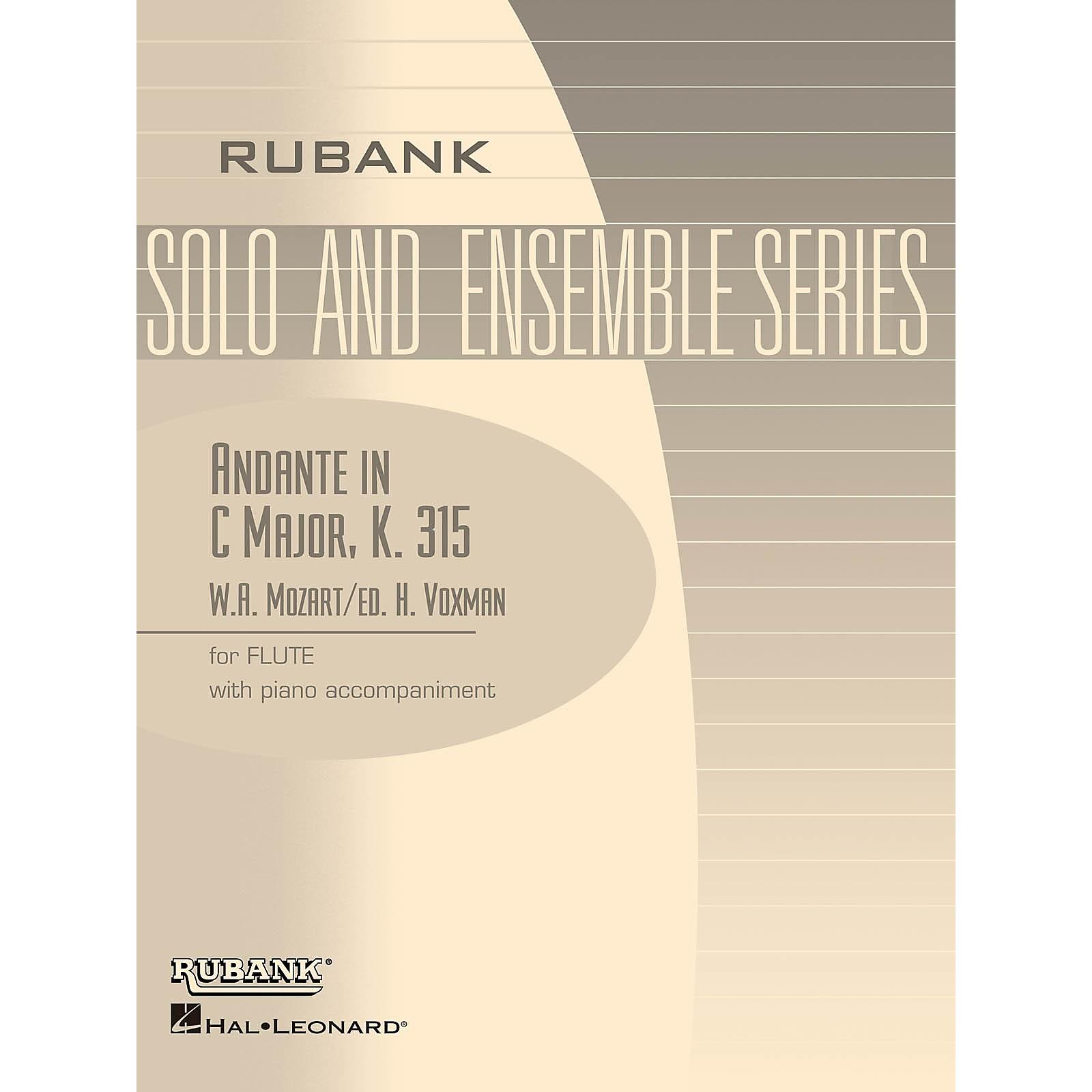 Rubank Publications Andante in C Major, K. 315 (Flute Solo with Piano - Grade 4) Rubank Solo/Ensemble Sheet Series