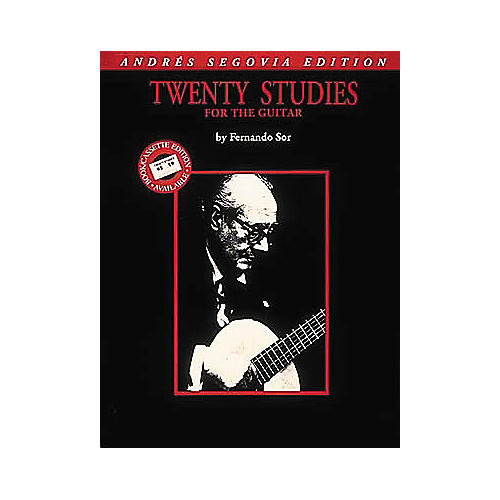 Edward B. Marks Music Company Andres Segovia 20 Studies for Guitar Transcribed Book