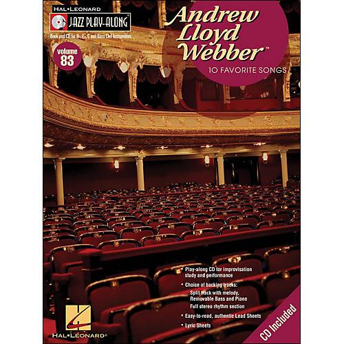 Hal Leonard Andrew Lloyd Webber - Jazz Play-Along Volume 83 (CD/Pkg)