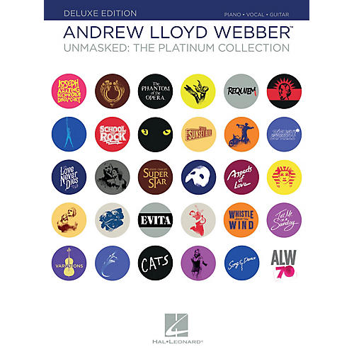Hal Leonard Andrew Lloyd Webber - Unmasked: The Platinum Collection Deluxe Edition Piano/Vocal/Guitar Songbook