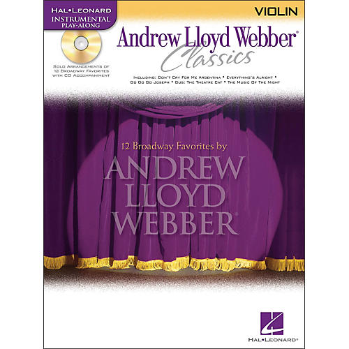 Hal Leonard Andrew Lloyd Webber Classics for Violin Book/CD