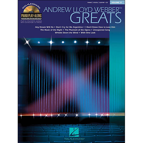 Hal Leonard Andrew Lloyd Webber Greats Volume 27 Book/CD Piano Play-Along arranged for piano, vocal, and guitar (P/V/G)