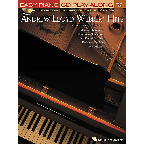Hal Leonard Andrew Lloyd Webber Hits - Easy Piano CD Play-Along Volume 22 Book/CD