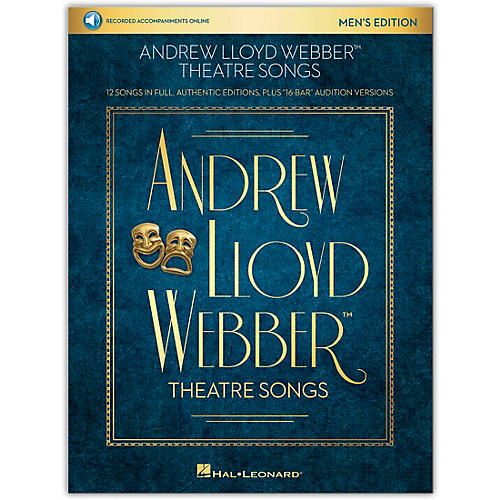 Hal Leonard Andrew Lloyd Webber Theatre Songs - Men's Edition Vocal Collection Book/Audio Online