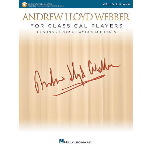 Hal Leonard Andrew Lloyd Webber for Classical Players - Cello and Piano Book/Audio Online