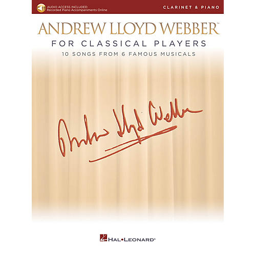 Hal Leonard Andrew Lloyd Webber for Classical Players - Clarinet and Piano Book/Audio Online