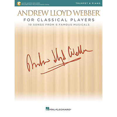 Hal Leonard Andrew Lloyd Webber for Classical Players - Trumpet and Piano Book/Audio Online