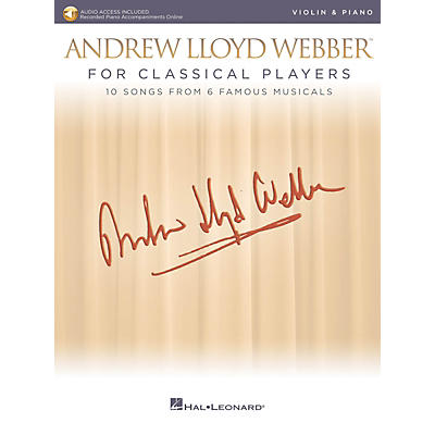 Hal Leonard Andrew Lloyd Webber for Classical Players - Violin and Piano Book/Audio Online