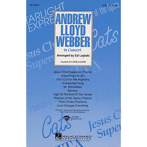 Hal Leonard Andrew Lloyd Webber in Concert (Medley) ShowTrax CD Arranged by Ed Lojeski