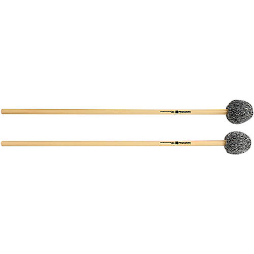 Promark Andrew Markworth Rattan Handle Vibraphone Mallets Soft Grey Yarn