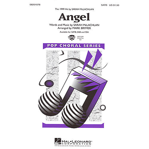 Hal Leonard Angel SAB by Sarah McLachlan Arranged by Mark Brymer
