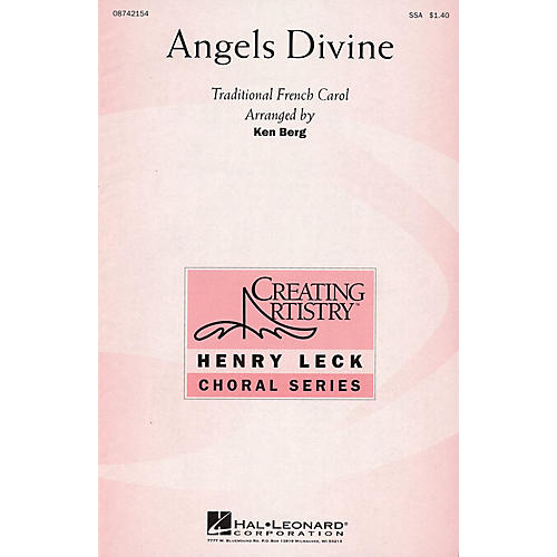 Hal Leonard Angels Divine SSA arranged by Ken Berg
