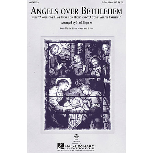Hal Leonard Angels Over Bethlehem 3-Part Mixed arranged by Mark Brymer