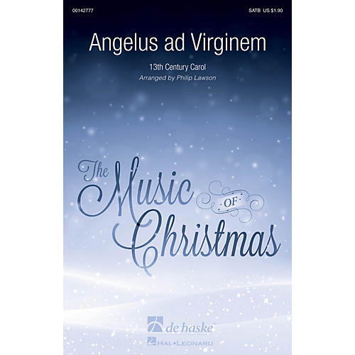 De Haske Music Angelus ad Virginem SATB arranged by Philip Lawson