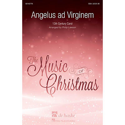 De Haske Music Angelus ad Virginem SSA arranged by Philip Lawson