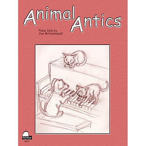 SCHAUM Animal Antics Educational Piano Series Softcover