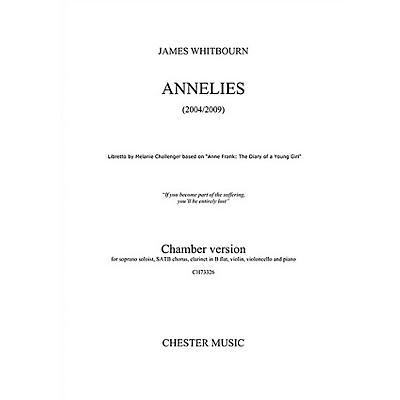 Chester Music Annelies (Chamber Version Full Score) Full Score Composed by James Whitbourn