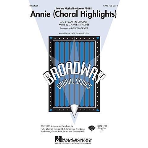 Hal Leonard Annie (Choral Highlights) 2-Part Arranged by Roger Emerson
