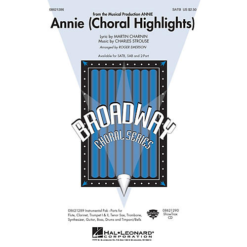 Hal Leonard Annie (Choral Highlights) Combo Parts Arranged by Roger Emerson