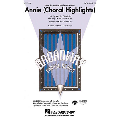 Hal Leonard Annie (Choral Highlights) SAB Arranged by Roger Emerson