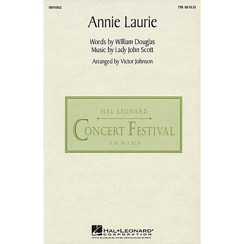 Hal Leonard Annie Laurie TTB arranged by Victor Johnson