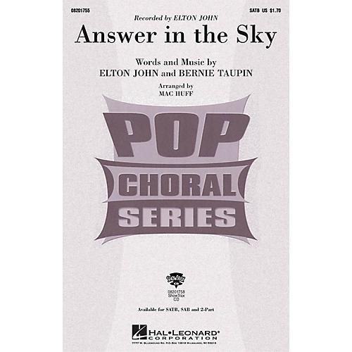 Hal Leonard Answer in the Sky SAB by Elton John Arranged by Mac Huff