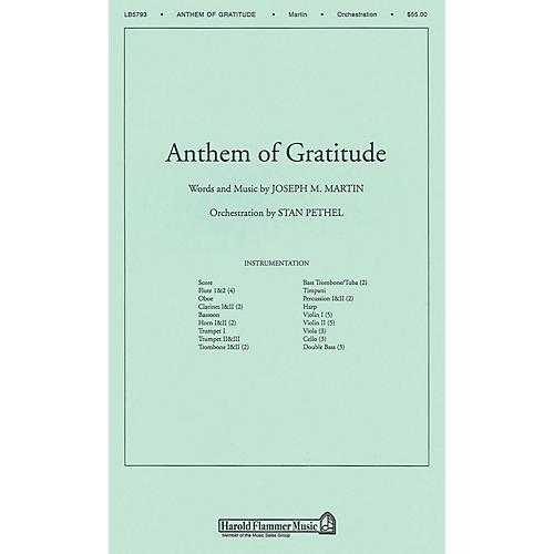 Shawnee Press Anthem of Gratitude Score & Parts arranged by Stan Pethel