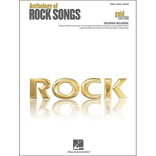 Hal Leonard Anthology Of Rock Songs - Gold Edition arranged for piano, vocal, and guitar (P/V/G)