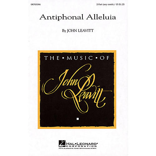 Hal Leonard Antiphonal Alleluia 2-Part any combination