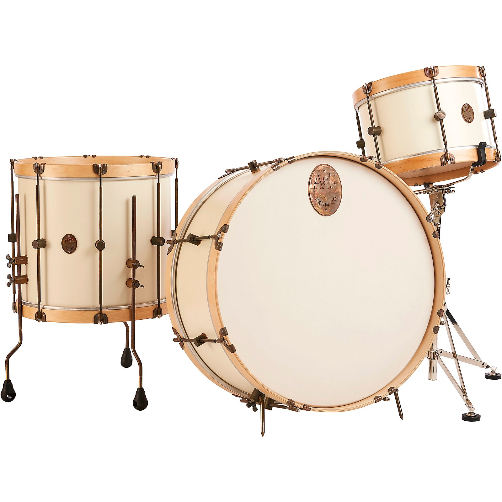 A&F Drum Co Antique White Maple 3-Piece Drum Shell Pack
