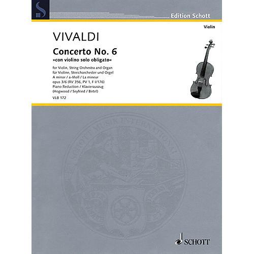 Schott Antonio Vivaldi - Concerto No. 6 in A minor, Op. 3/6, RV 356 String Series Softcover