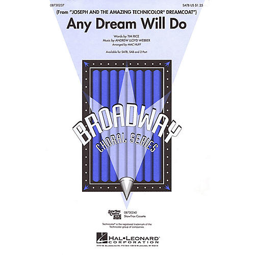 Hal Leonard Any Dream Will Do 2-Part Arranged by Mac Huff