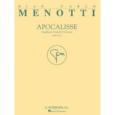 G. Schirmer Apocalisse (Full Score) Study Score Series Composed by Gian-Carlo Menotti