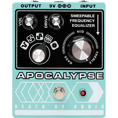 Death By Audio Apocalypse Fuzz Effects Pedal Pale Green