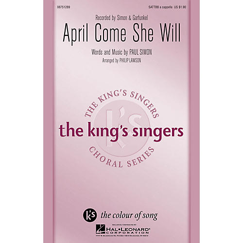 Hal Leonard April Come She Will SATTBB A Cappella by Simon & Garfunkel arranged by Philip Lawson