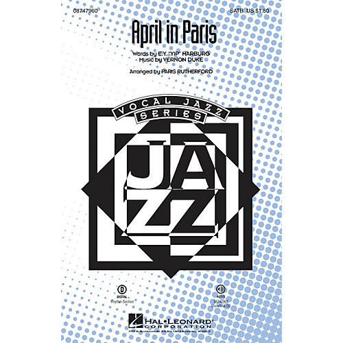 Hal Leonard April in Paris SATB arranged by Paris Rutherford