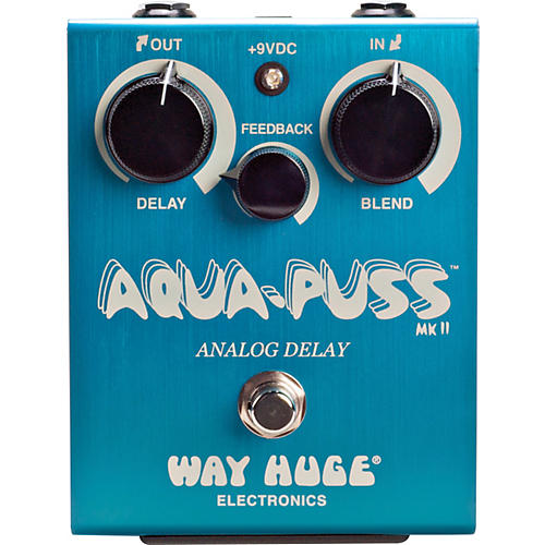 Way Huge Electronics Aqua-Puss MkII Analog Delay Guitar Effects Pedal